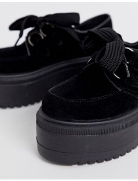 Zapatos Planos De Cordones Gruesos En Negro Murray De Asos Design by Asos Design