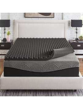 Slumber Solutions Active 3 Inch Big Bump Charcoal Memory Foam Topper   Full by Slumber Solutions