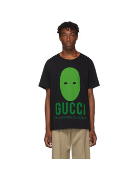 Black & Green Manifesto T Shirt by Gucci