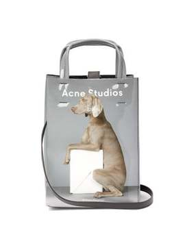 X William Wegman Baker Small Dog Print Tote Bag by Acne Studios
