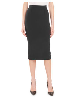 High Waist Stretch Midi Pencil Skirt by Roland Mouret