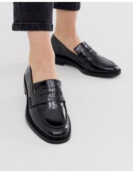 Stradivarius Slip On Loafers In Black by Stradivarius
