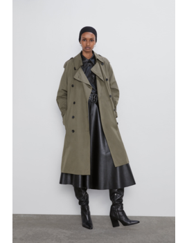 Double Breasted Trench Coat With Buttons New Inwoman by Zara