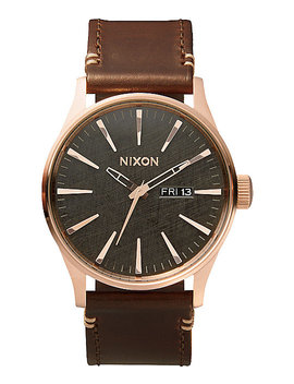 Nixon Sentry Leather Analog Watch by Nixon Watches