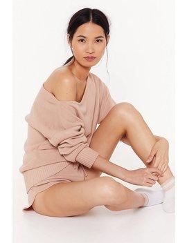 Kick Back & Relax Pyjama Jumper And Shorts Set by Nasty Gal