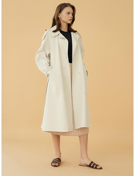 Light Grey Trench Coat by Blank03