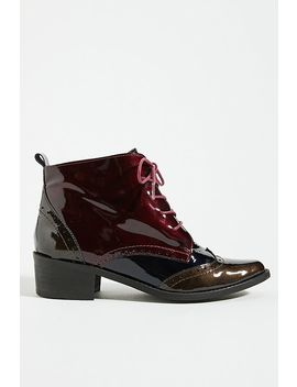 Patent Leather Lace Up Boots by Anthropologie