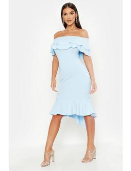 Ruffle Fishtail Midi Dress by Boohoo