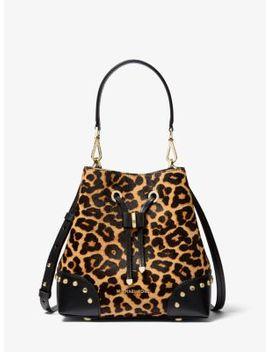Mercer Gallery Small Leopard Calf Hair Shoulder Bag by Michael Michael Kors