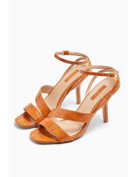 Nero Tan Mid Heel Sandals by Topshop