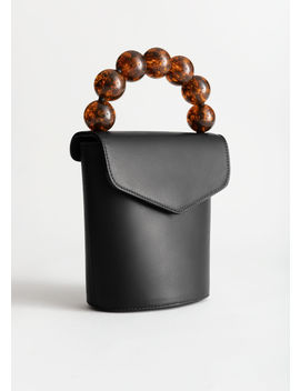 Beaded Handle Mini Leather Bag by & Other Stories