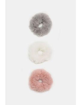 Pack Of Fuzzy Scrunchies by Ardene