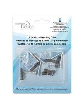 Plastic Mirror Mounting Clips (6 Pack) by Masterpiece Decor