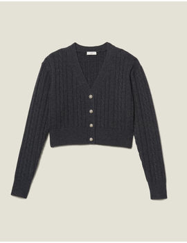 Cropped Cardigan With Pearl Buttons by Sandro Paris