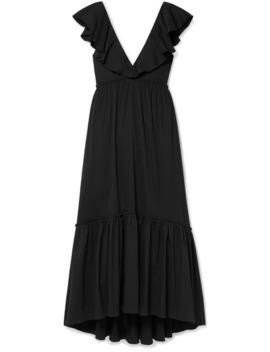 D'été Ruffled Striped Cotton Blend Poplin Maxi Dress by La Ligne
