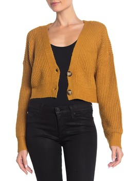 V Neck Cropped Cardigan by Double Zero