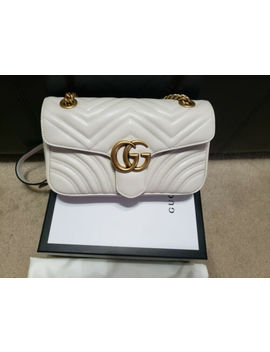 Authentic Gucci Marmont Small Shoulder Bag White by Gucci