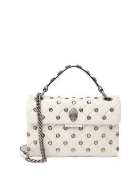 Studded Kensington Leather Crossbody Bag by Kurt Geiger London