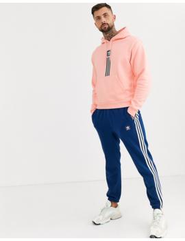 Adidas Skateboarding Pillar Logo Hoodie In Pink by Adidas