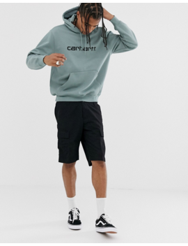 Carhartt Wip Hooded Carhartt Sweat In Cloudy Blue by Carhartt Wip
