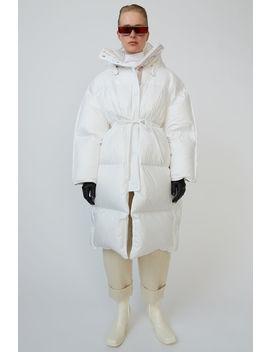 Boxy Down Coat Optic White by Acne Studios