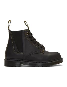 Black Lace Up Boots by Yohji Yamamoto