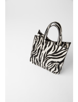 Animal Print Leather Mini Shopper Bag  Bagswoman Shoes &Amp; Bags by Zara