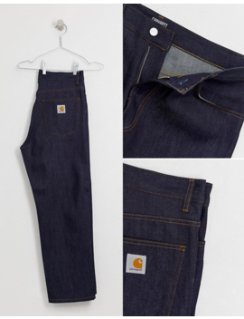 Carhartt Wip Smith Denim Pant Relaxed Straight Fit In Blue by Carhartt Wip