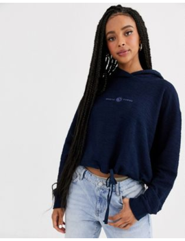 Pull&Amp;Bear Surf Hoodie In Navy by Pull&Bear
