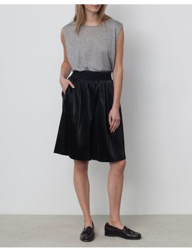 Rodebjer Thoth Pleated Long Short   Black by Garmentory