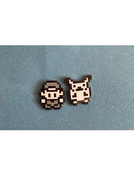 Trainer And Pocket Monster Sprite Pins by Etsy