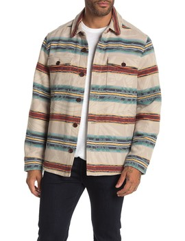 Island Serape Stripe Shirt Jacket by Tommy Bahama
