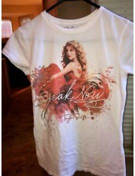 Taylor Swift Speak Now Exclusive Collection Shirt White Short Sleeve Medium M by Taylor Swift