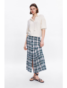 Check Skirt Collectionwoman Sale by Zara