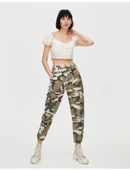Pantalon Camouflage Cargo by Pull & Bear