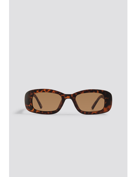 Retro Rectangular Sunglasses Brown by Na Kd Accessories