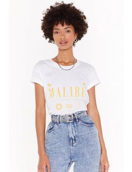 The Skys More Blue In Malibu Graphic Tee by Nasty Gal