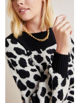 Cole Animal Printed Sweater by Anthropologie