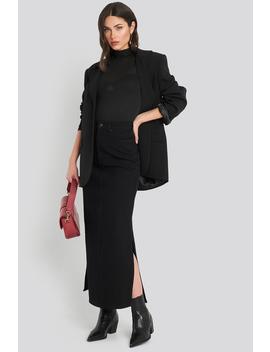 Side Split Maxi Denim Skirt Black by Na Kd Trend