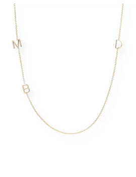Maya Brenner Designs Mini 3 Letter Personalized Necklace, 14k Yellow Gold by Maya Brenner Designs