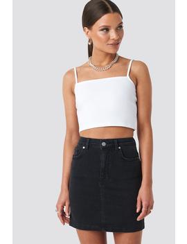 Mini Denim Skirt Black by Niccihernestigxnakd