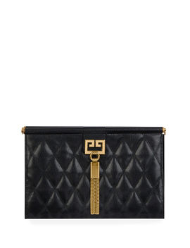 Gem Medium Quilted Leather Shoulder Bag by Givenchy