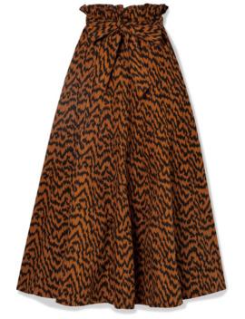 Esther Printed Denim Midi Skirt by Ulla Johnson