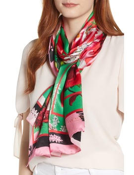 Berry Sundae Floral Silk Scarf by Ted Baker London