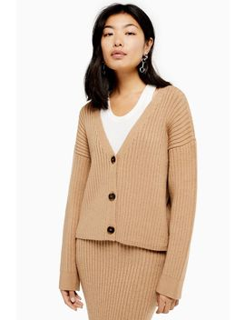 Co Ord Ribbed Cardigan by Topshop