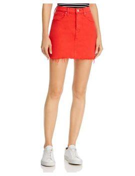 Viper Denim Mini Skirt In Cherry by Hudson