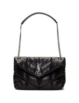 Black Small Puffer Loulou Bag by Saint Laurent