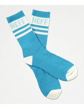 Neff Promo Cyan & White Crew Socks by Neff