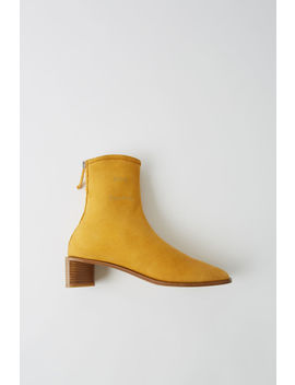 Suede Ankle Boots Yellow/Beige by Acne Studios