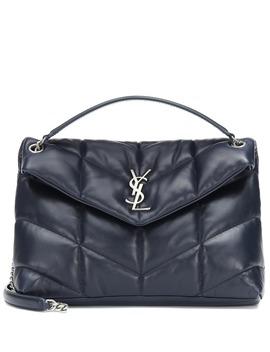 Loulou Puffer Leather Shoulder Bag by Saint Laurent
